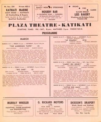 Poster, Plaza Theatre