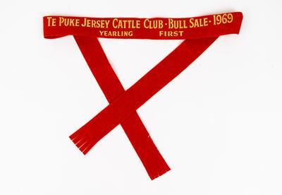 Ribbon, Bull Sale, Te Puke