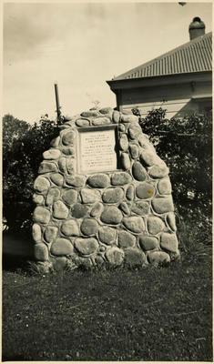 Print, Photographic, Stone Cairn, The Elms, Tauranga
