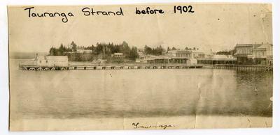 Print, Photographic, Town Wharf, The Strand, Tauranga