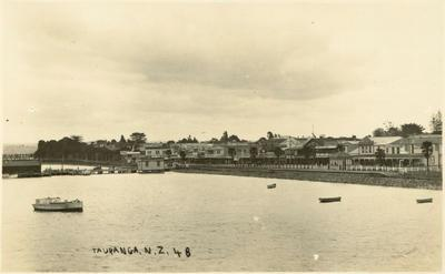 Print, Photographic,  The Strand from Railway Wharf, Tauranga
