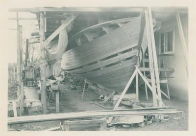 Boat Building, Murrell Photographic Collection