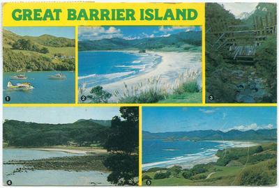 Postcard, Great Barrier Island