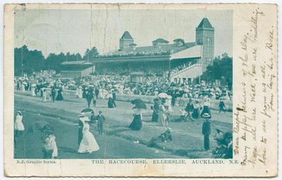 Postcard, Ellerslie Racecourse, Auckland