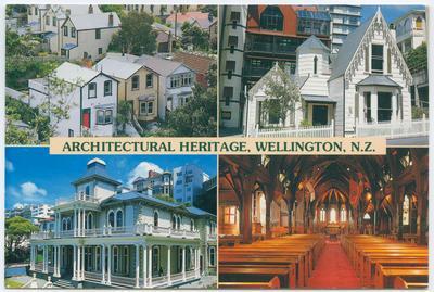 Postcard, Architectural Heritage, Wellington