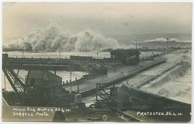 Postcard, Heavy Sea, Napier