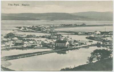 Postcard, The Port, Napier