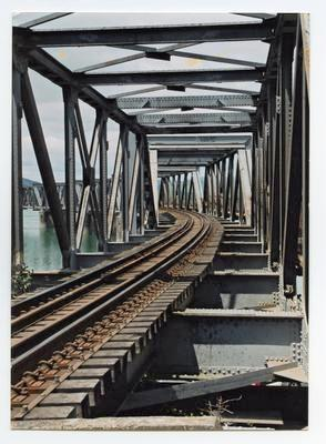 Print, Photographic, Matapihi Railway Bridge, Tauranga