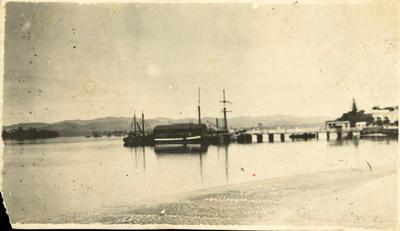 Print, Photographic, 'Ruru', Town Wharf, Tauranga