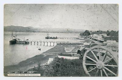 Postcard, Tauranga, Town Wharf