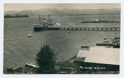 Postcard, Tauranga, Victoria Wharf
