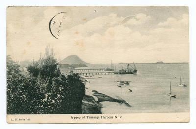 Postcard, Tauranga Harbour
