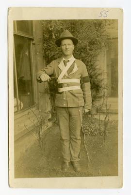 Postcard, WW1, Rifleman Davies
