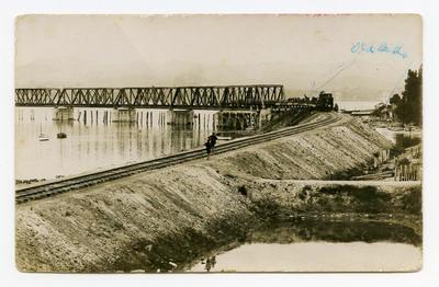 Postcard, Matapihi Rail Bridge, Tauranga