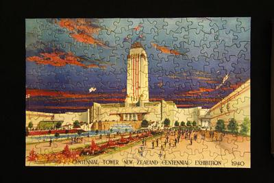 Jigsaw Puzzle c/w box, NZ Exhibition 1940