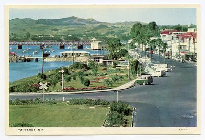 Postcard, The Strand, Tauranga