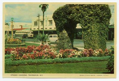Postcard, Herries Arch, The Strand Gardens, Tauranga