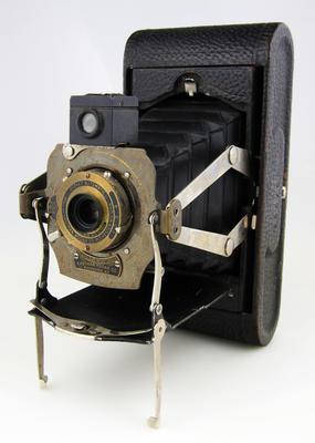 Camera, No 1A Folding Pocket Kodak Model D