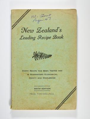 Cookbook, New Zealand Leading Recipe Book