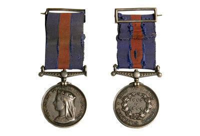 Medal, New Zealand War, J Nolan