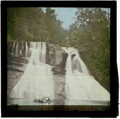 Glass Lantern Slide, Aniwaniwa Falls