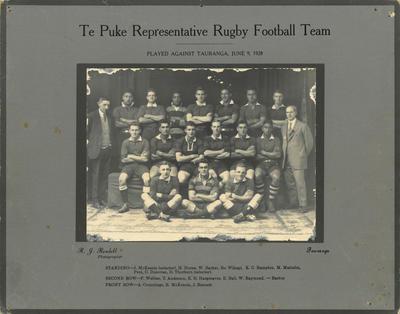 Print, Photographic, Te Puke Rugby Team 1928