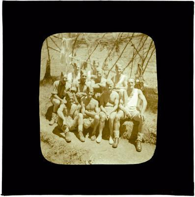 Glass Lantern Slide, Group of Soldiers