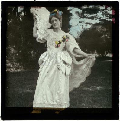 Lantern Slide, Maysie Cussen, Gavotte Dress