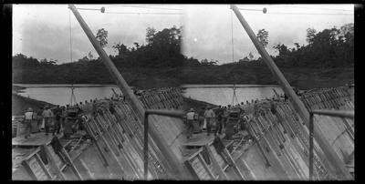 Glass Plate Negative, Construction of Dam