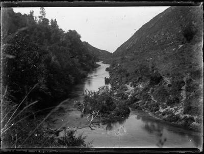 Glass Plate Negative, A river valley