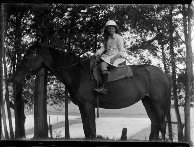 Glass Plate Negative, Child on horse