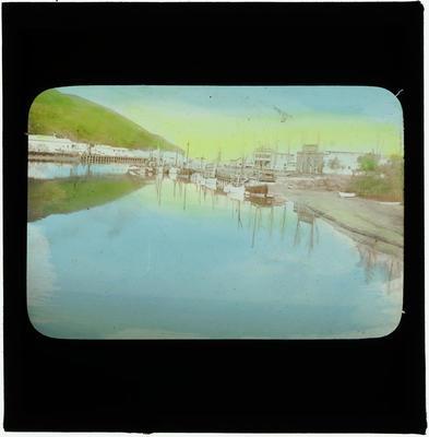 Glass Lantern Slide, Gisborne Wharf
