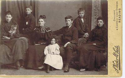 Print, Photograph, Cabinet Card, Family group