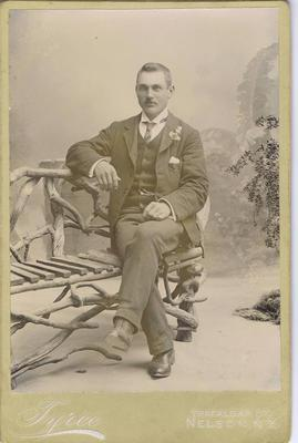 Print, Photograph, Cabinet Card, Seated man
