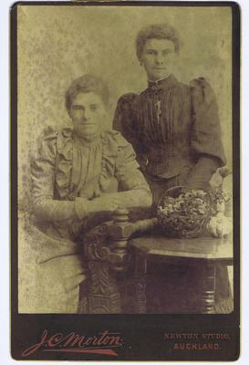 Print, Photograph, Cabinet Card, Two women