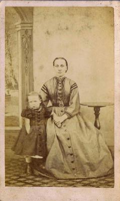 Print, Photograph, Carte de visite, Woman with child