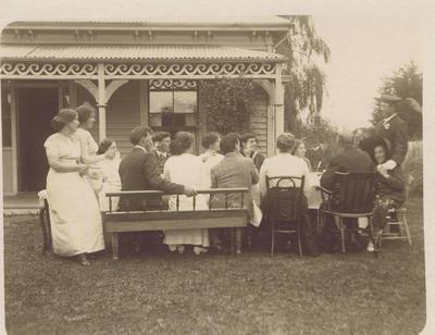 Print, Photographic, Family Gathering