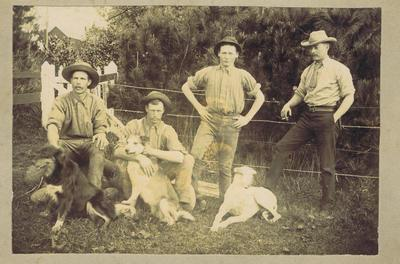Print, Photographic, Men with dogs