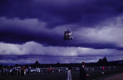 Slide, Helicopter, Tauranga Racecourse
