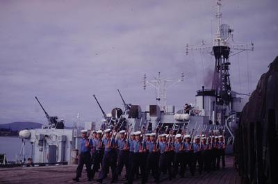 Slide, 'HMNZS Pukaki', Tauranga Harbour