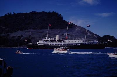 Slide, HMY Britannia, Tauranga Harbour