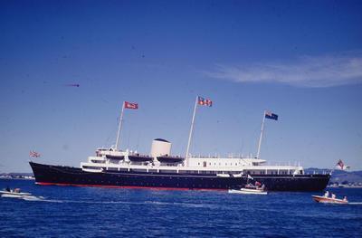 Slide, HMY Britannia, Royal Visit, Tauranga Harbour