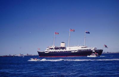 Slide, HMY Britannia, Royal Visit, Tauranga