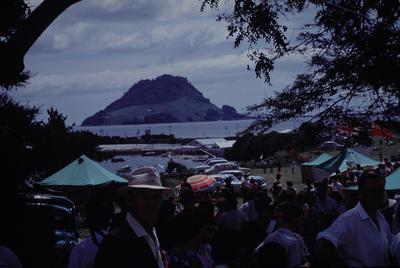 Slide, Mauao from Tauranga Domain