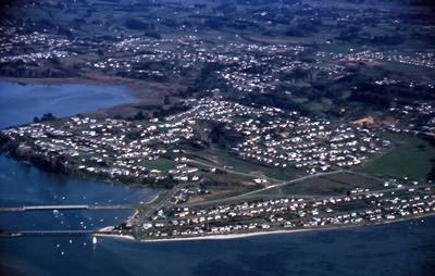 Slide, Aerial View, Otumoetai, Tauranga