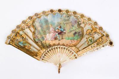 Regency Fan, Woman's c/w Case