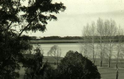 Slide, Tauranga Harbour from Memorial Park