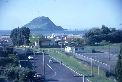 Slide, Mauao from Cliff Road, Tauranga
