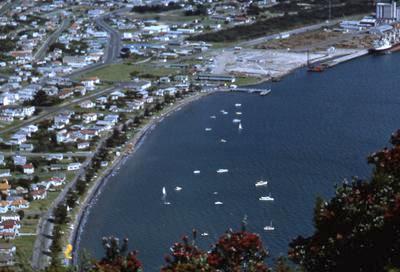 Slide, Pilot Bay from Mauao