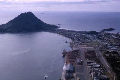 Slide, Aerial View, Mauao, Mount Maunganui